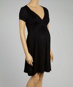 Look at this #zulilyfind! Navy Maternity Cape Sleeve Dress #zulilyfinds