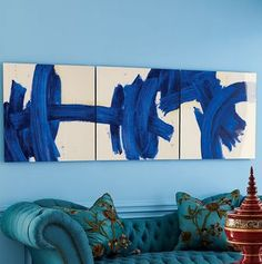 abstract diy using wallpaper paste brush