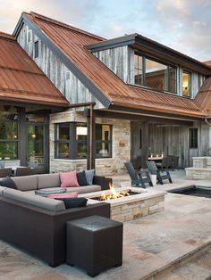 How does a gorgeous, creekside mountain modern home on 75 acres sound? How does a gorgeous, creekside mountain modern home on 75 acres sound? Mountain Home Exterior, Modern Mountain Home, Mountain Living, Mountain Homes, Aspen Mountain, Mountain Bedroom, Modern Farmhouse Exterior, Rustic Farmhouse, Rustic Home Exteriors