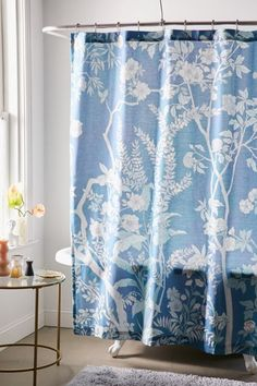 Shop Freya Floral Shower Curtain at Urban Outfitters today. We carry all the latest styles, colors and brands for you to choose from right here. Floral Shower Curtains, Bathroom Curtains, Plywood Furniture, Eames, Apartment Essentials, Apartment Ideas, Home Decor Sale, Shower Curtain Hooks, Of Wallpaper