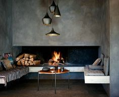 Oh, but I want me a fire place. Maybe will settle for a wood burner. A few very good ideas on this page.