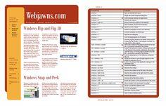 Windows 7 Cheat Sheet (Shortcuts/Hotkeys, Reference, etc.) | webjawns.