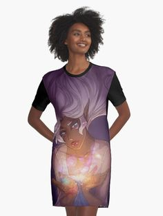 """""""The Universe in her hands"""" Graphic T-Shirt Dresses by JoanaTiago   Redbubble"""