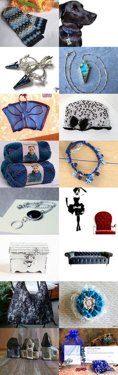 Black and Blue by Kate Brooks on Etsy--Pinned with TreasuryPin.com