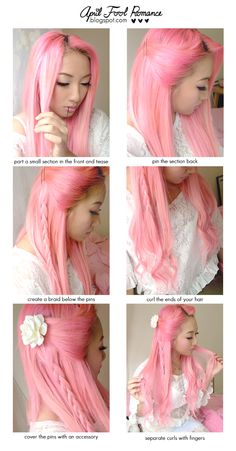 Hair Tutorial for April. I must say, I'm loving the pink hair