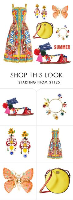 """Hello Summer Brights"" by leiastyle on Polyvore featuring Dolce&Gabbana and summersandals"