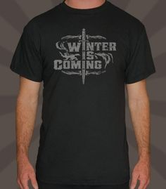 """""""Winter Is Coming"""" Shirt inspired by Game of Thrones (House Stark) 