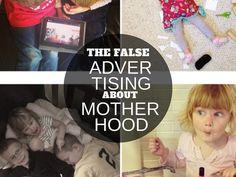 The false advertising about motherhood via lisajobaker.com