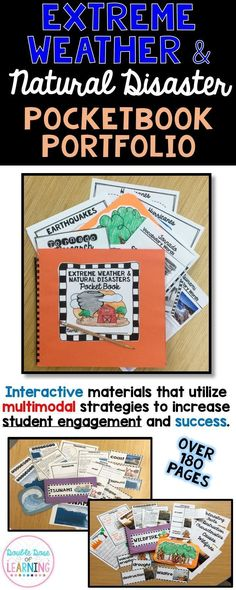 The Mega Pocketbook Portfolio includes *6 Units* of in-depth information to teach students about Hurricanes, Tornadoes, Tsunamis, Earthquakes, Wildfires and Blizzards! Lessons include PowerPoint presentations, reading passages with comprehension questions, graphic organizers, Smart Art and MORE!