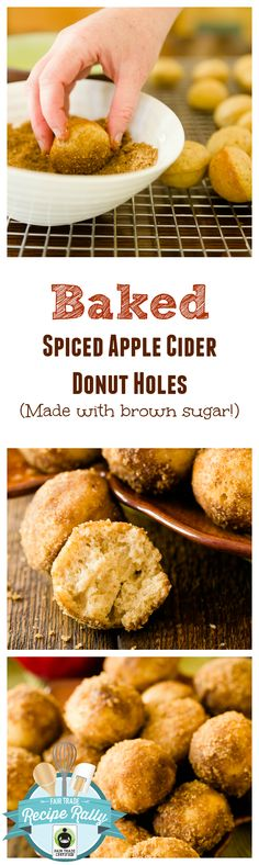 These baked spiced apple cider donut holes are just as good as any fried donut I've every had.  Plus, they are healthier and super easy to make!  You can use a donut hole pan, but if you don't have one, you can easily make them in mini muffin pans!  It's the perfect dessert for fall!!