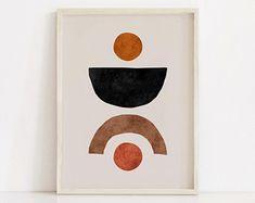 Mid Century Modern Art, Diy Canvas Art, Modern Prints, Printable Wall Art, Wall Art Prints, Artwork, Painting, Vintage Hippie, Art Ideas