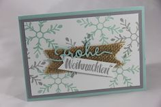 StampinFantasy: Materialmix Stampin Up, Material, Winter, Frame, Decor, Stamping, Crafting, Winter Time, Picture Frame