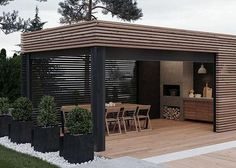 Open she shed Terrace Design, Outdoor Rooms, Patio Design, Outdoor Kitchen Design, Outdoor Living Design, Pool House Designs, Backyard Pavilion, Backyard Landscaping Designs, House Exterior