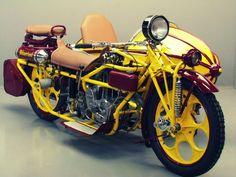 One cylinder 600cc cylinder 1936 Bohmerland with sidecar