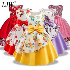 Girls Dresses Sewing, Girls Formal Dresses, Little Girl Outfits, Little Girl Dresses, Kids Outfits, Girls Frock Design, Baby Dress Design, Kids Dress Wear, Kids Gown