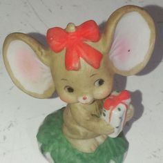 Tiny Gift Bearing Lefton Mouse by EmilysCraftys on Etsy