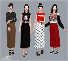 Long Pleats Skirt by Marigold.