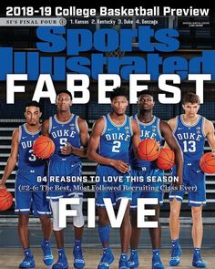 Duke on Huge 13 Sports Illustrated Basketball Vorschau Cover Products Girls Basketball Shoes, Basketball Goals, College Basketball, Basketball Tickets, Basketball Court, Duke Basketball Players, Basketball Memes, Basketball Scoreboard, Basketball Legends