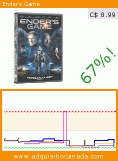 Ender's Game (DVD). Drop 66.679021497405%! Current price C$ 8.99, the previous price was C$ 26.98. By Gavin Hood, Harrison Ford, Abigail Breslin, Ben Kingsley, Asa Butterfield, Hailee Steinfeld. https://www.adquisitiocanada.com/eone-films/enders-game