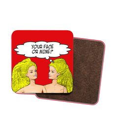 4 x Rude, Funny, Lesbian Drinks Coasters! Lesbian Humor, Lesbian Gifts, Wooden Coasters, Quirky Gifts, Lesbian Wedding, Stocking Fillers, Wedding Looks, Drink Coasters, Cleaning Wipes