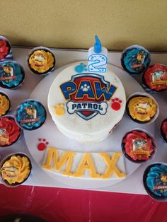 Fondant Paw Patrol Shield And Bone Edible Paw By