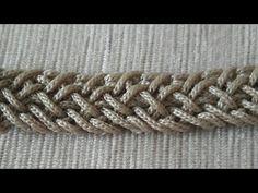 Crochet Cord, Crochet Lace, Crochet Stitches, Seed Bead Tutorials, Beading Tutorials, Free Macrame Patterns, Crochet Patterns, Crochet Handles, Bracelet Fil