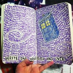 drawing art doctor who dw My art sorry TARDIS wreck this journal um yeah text post doodle wtj Doctor Who Drawings, Doctor Who Art, Doctor Who Zeichnungen, Wreck This Journal, Geek Out, Dr Who, Art Drawings, Drawing Art, Nerdy