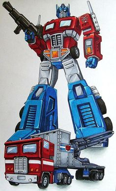 """Here's my image of the coolest character ever created for TV. Name: Optimus Prime. Rank: Commander of Autobots Motto: """"Freedom is the right of all sentient lifeforms"""" Height: 32 feet (a. Transformers 4, Transformers Generation 1, Transformers Characters, Transformers Masterpiece, Gi Joe, Gundam, Nemesis Prime, Hasbro Studios, Kids Nursery Rhymes"""