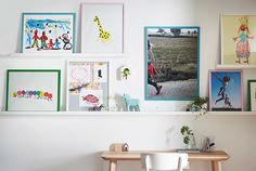 Colorful IKEA FISKBO picture frames for home decoration.  I like this collection of frames for the wall art we are going to create.