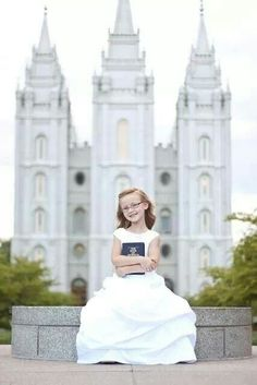 This little Gem is getting baptized! You can see the glow on her face, she is so excited. Brecklyn was so fun she is an amazing dancer so s. Baptism Photography, Photography Poses, Baptism Pictures, Getting Baptized, Lds Church, Church Ideas, Baby Blessing, Baptism Dress, Jesus Cristo