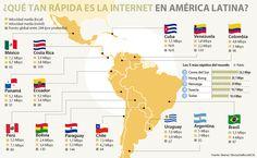Internet en Colombia es hasta cinco veces más lento que en Corea del Sur Cuba, Internet, Map, Venezuela, Colombia, South Korea, Location Map, Maps