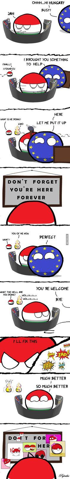 Never gona give you up! #countryballs #polandball
