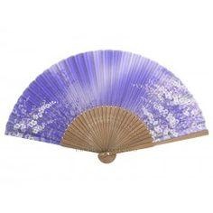 Eventail japonais fleurs
