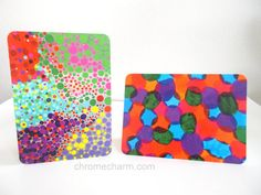 Colorful Blank Greeting Cards NEW ITEM by chromeCHARM on Etsy
