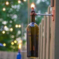 How to make a #DIY Wine Bottle Tiki Torch