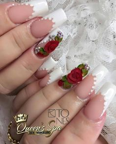 Opting for bright colours or intricate nail art isn't a must anymore. This year, nude nail designs are becoming a trend. Here are some nude nail designs. Rose Nails, 3d Nails, Gorgeous Nails, Pretty Nails, Amazing Nails, 3d Rose, Elegant Nails, Nail Trends, Wedding Nails