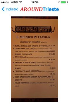 #OLDWILDWESTTORRIDEUROPATRIESTE ...MESSICO IN TAVOLA... www.grandiristorantitrieste.com