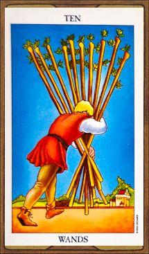 Ten of Wands - Tarot Card Meaning & Interpretation