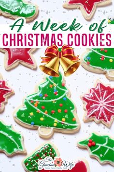 I'm excited to designate this week the Week of Christmas Cookies here at The Gracious Wife!  This week will be chock-full of Christmas cookies recipes, every single day! So be sure to check back daily for updates!  We'll include two recipes daily, plus two huge finale round-up posts on Saturday! Happy baking! | The Gracious Wife @thegraciouswife #christmascookierecipes #christmascookies #holidaycokies #christmasbaking #holidaybaking #thegraciouswife Christmas Party Food, Christmas Sweets, Diy Christmas Gifts, Christmas Ideas, Christmas Decorations, Homemade Christmas Cookie Recipes, Christmas Recipes, Holiday Recipes, Holiday Cookies