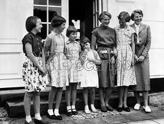 The Children of the Danish and Dutch Royal families during the visit of the Dutch Royal Family at Graasten Palace . (Left to Right) Princess Margriet of the Netherlands , Princess Benedicte of Denmark , Princess Anne-Marie of Denmark , Princess Marijhe of the Netherlands , Princess Irene of the Netherlands , Princess Margrethe of Denmark and Princess Beatrix of the Netherlands - 31st July 1954 ©TopFoto