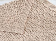 Double Basketweave Blanket Knitting pattern by Caroline Brooke | Knitting Patterns | LoveKnitting
