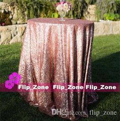 2015 Bling Rose Gold Sequins Wedding Party Round Table Cloth Wedding Decorations Silver Purple Royal Blue Pink Dress Fabric Table Linens For Sale Banquet Tablecloths From Sweet Life, $16.65| Dhgate.Com