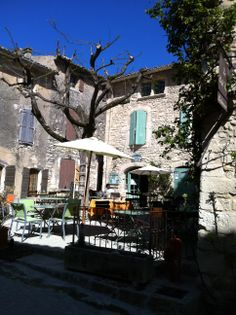 Cafe poulivets, Oppede le vieux French Restaurants, France, Provence, Travel, Provence France, French Resources, Aix En Provence