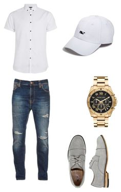 """Untitled #75"" by noybm ❤ liked on Polyvore featuring interior, interiors, interior design, home, home decor, interior decorating, Topman, Nudie Jeans Co., X-Ray and Michael Kors"