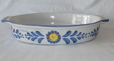 Fratantoni for Vietri Oval Bowl with Handles, Made in Italy, Hand Painted Signed