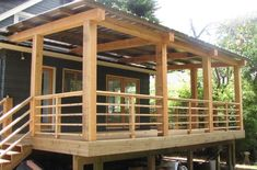 32 Best Images About Home Garden On Pinterest Decks Curved Horizontal Deck Railing Diy