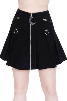Women's Bottoms | Jeans, Leggings, Skirts & Shorts | Killstar Short Skirts, Mini Skirts, Pleated Skirts, Black Pleated Mini Skirt, Girl Outfits, Fashion Outfits, Female Outfits, Steampunk Fashion, Gothic Fashion