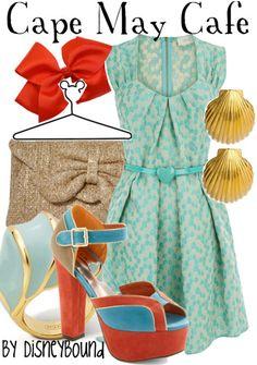 Cape May Cafe - Light Summer Dress; Disneybound