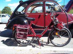Alain Obin x Solex Vintage Cycles, Vintage Bikes, Vintage Cars, Moto Scooter, 2cv6, Power Bike, Motorized Bicycle, Triumph, Car Humor