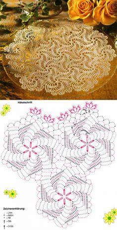 Handmade White Crochet Doily, Oval Crochet Tablecloth, Crochet Home Decor Table Decorations, C Filet Crochet, Beau Crochet, Crochet Doily Diagram, Crochet Doily Patterns, Crochet Chart, Crochet Squares, Crochet Home, Thread Crochet, Love Crochet